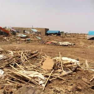 صورة تظهر الدمار نشرها الناشط عبد القادر محمد على فيسبوك