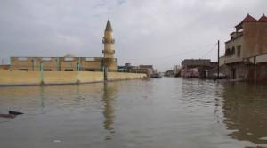 صورة لتأثير الأمطار على مدينة نواكشوط العام الماضي