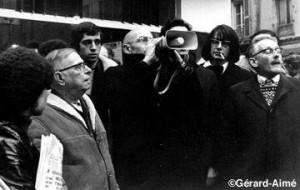 سارتر وفوكو في مظاهرة وحالة نضالية رائعة