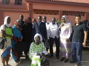 صورة للمشاركين في الورشة وأعضاء المدونة الجديدة